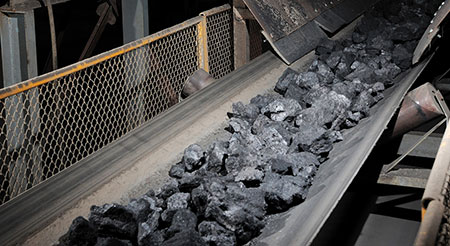 Transportation of coal in the oil and coal industry.