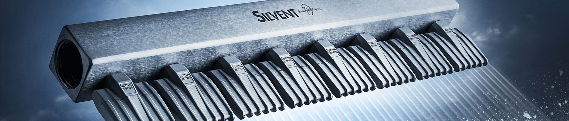 Silvent air knife with air jets on gray background